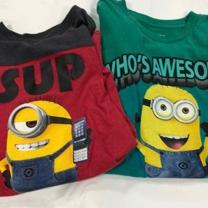 Boys despicable me T-shirts (2)